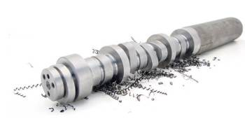 A photo of a camshaft