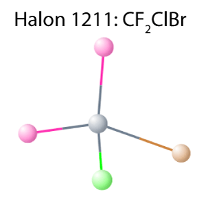 The Halon 1211 molecule