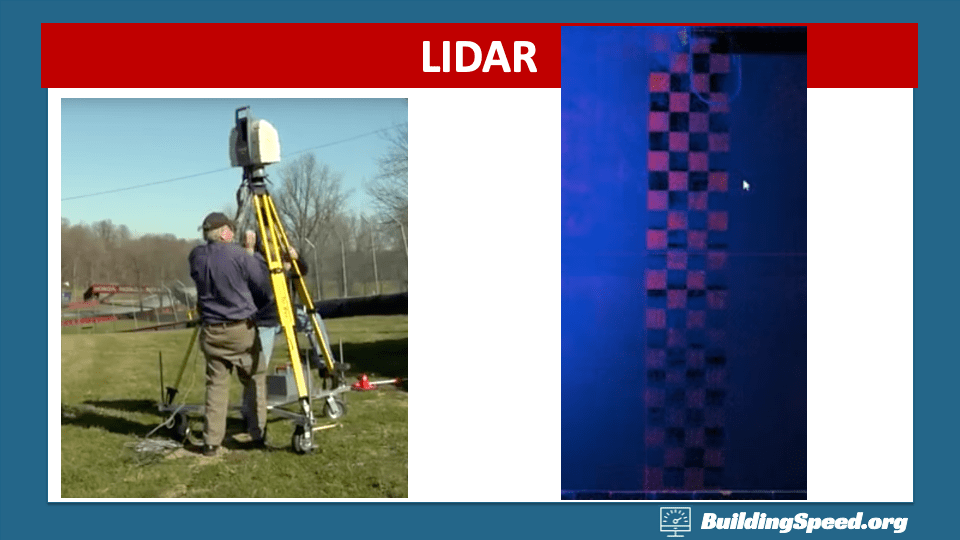 The LIDAR rig is portable and the resolution allows it to detect painted lines on the asphalt.