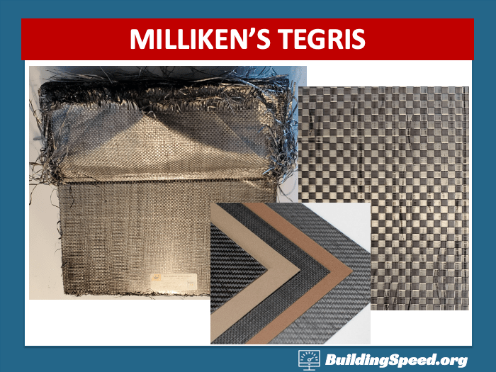 Tegris is a stiff, lightweight, durable material that is used for NASCAR splitters