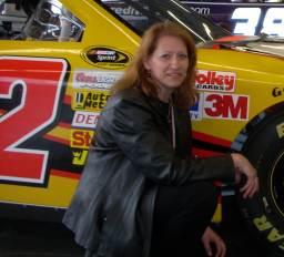 Podcast host Diandra at Daytona