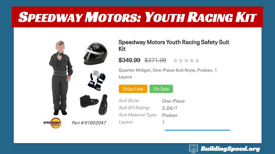 Speedway Motors youth racing kit