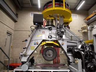 This is a MTS CT Plus Flat Trac, which Goodyear (and other companies) use for tire testing (Photo courtesy of Smithers.)