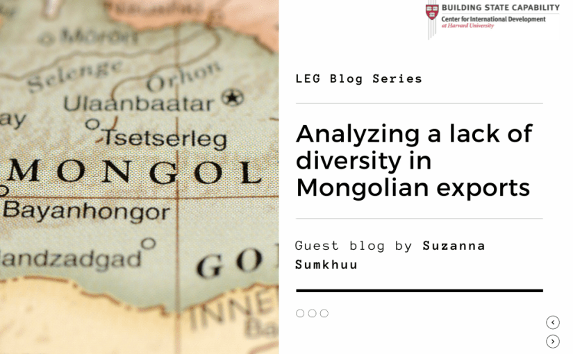 Lack of diversity in Mongolian exports: Effects on employment & productivity
