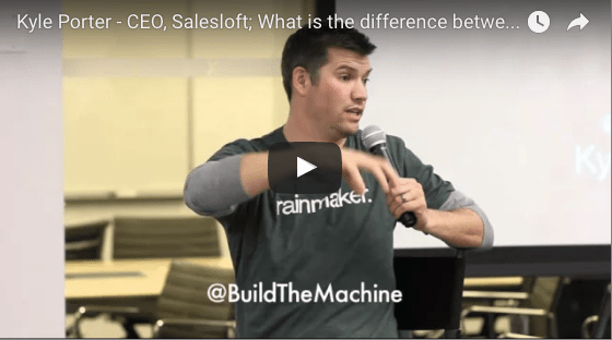 BTM Event Video: Salesloft CEO Kyle Porter - What is the difference between business leadership and sales leadership?