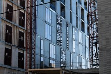 Solstice On The Park tops out, adds glass 7