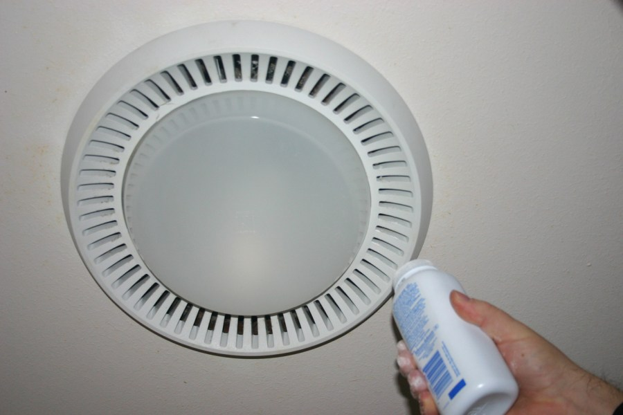 Maintenance Tips  Bathroom Exhaust Fans   Buildipedia Baby Powder and Cardboard Box Tests