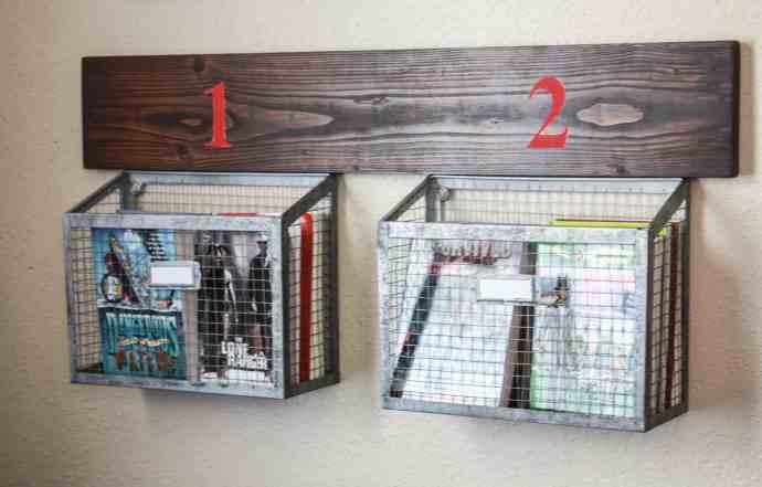 PBTeen Inspired Wire Wall Hanging Baskets