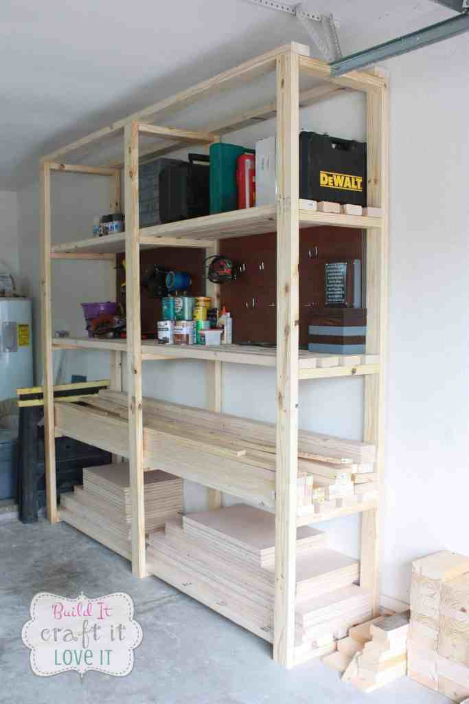 Easy DIY Garage Shelf Tutorial