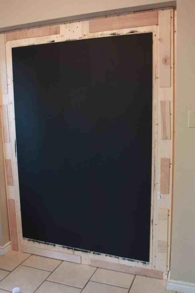 DIY Framed Chalkboard Wall - Build It Craft It Love It