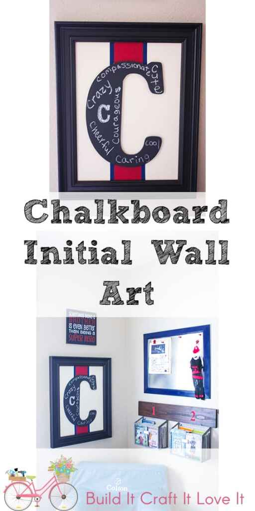 Chalkboard Initial Wall Art - Build It Craft It Love It
