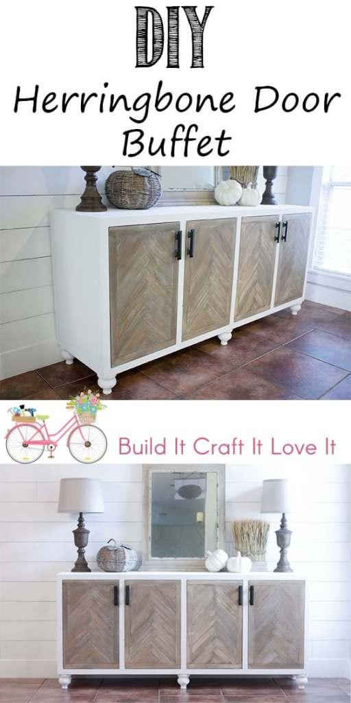 Herringbone Door Buffet - Build It Craft It Love It