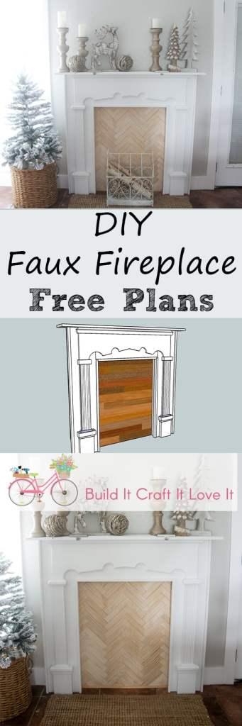 DIY Faux Fireplace - Build It Craft It Love It