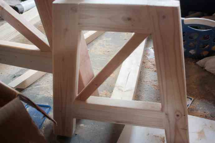 x base concrete outdoor bench
