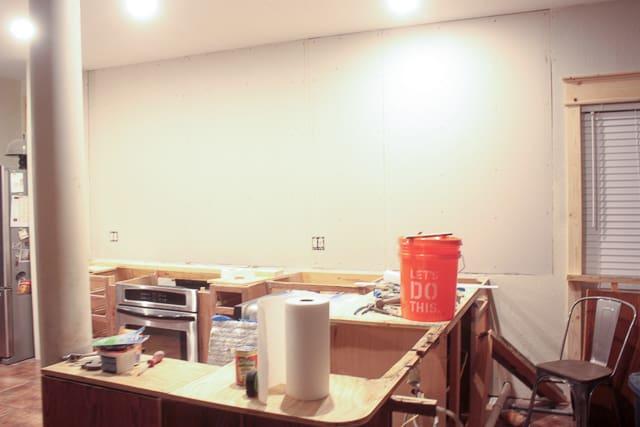 One Room Challenge - Week 4 - drywall and window trim