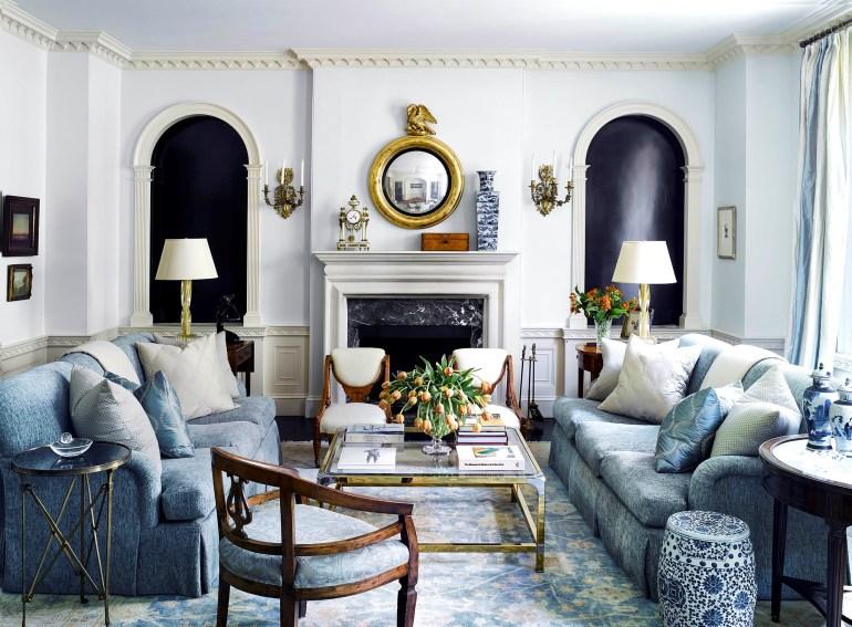 Blue-tone living room