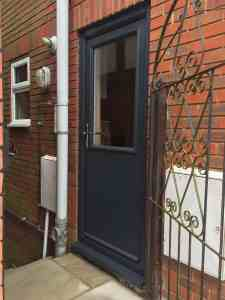grey composite doors cottage half glaze supplied and installed by buildmydoor