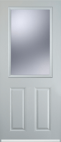 2 panel 1 square composite door