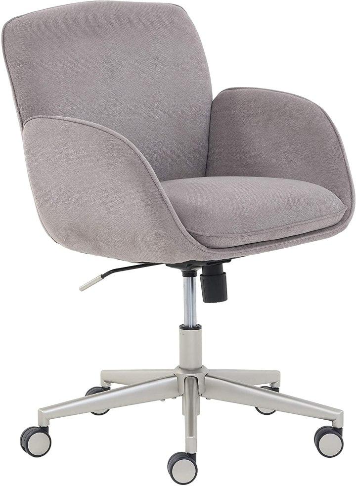 rivet modern upholstered office chair