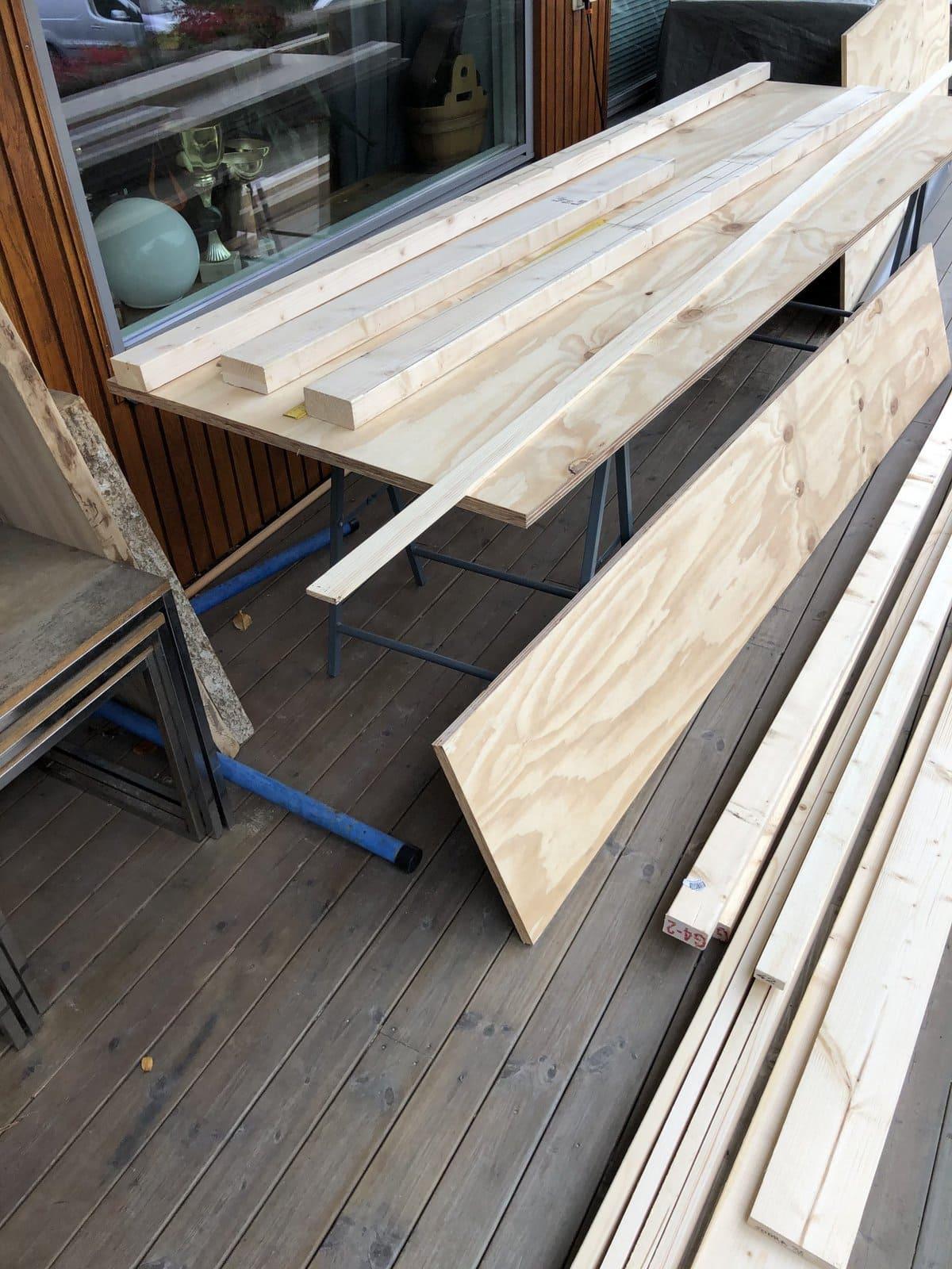wood for kayak