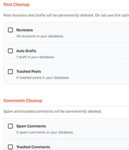 نظيف قاعدة البيانات