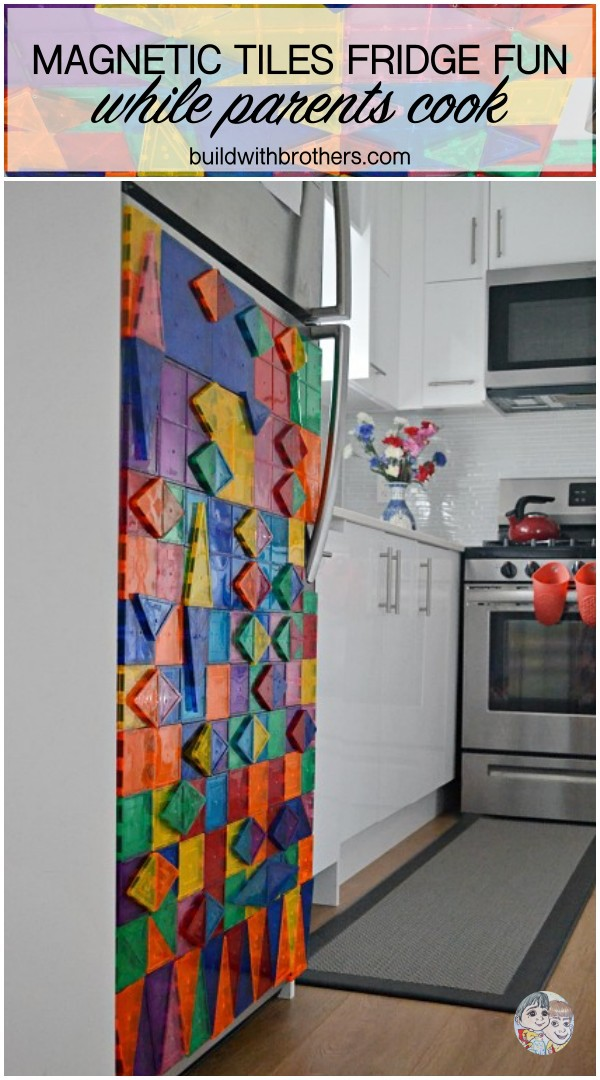 Read more about the article How to decorate the fridge with magnetic tiles while mom cooks