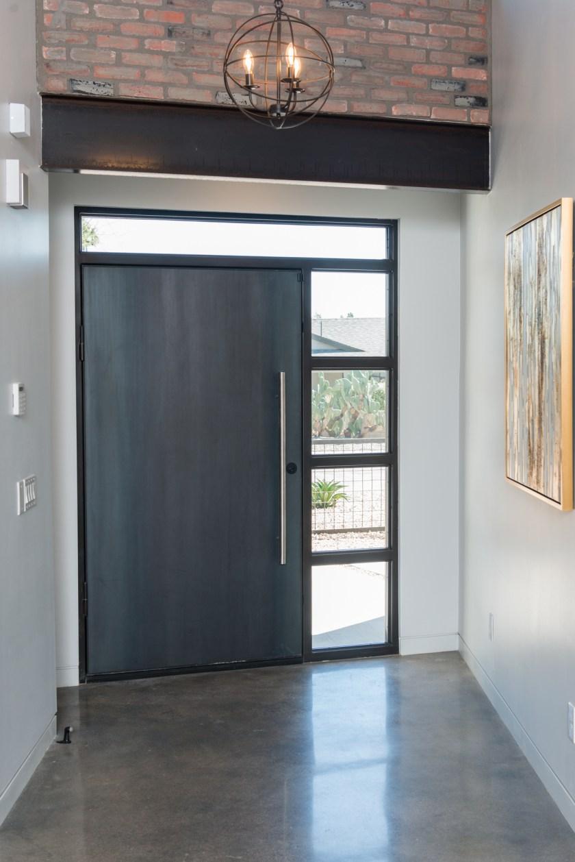 Front Entrance Steel Door - 3rd St New Build