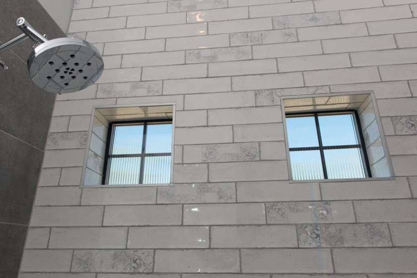 Master Bathroom Shower Windows - 3rd St New Build