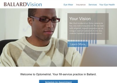 Optometry Web Site