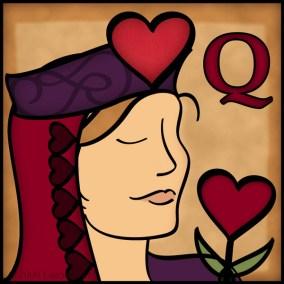 Self Portrait Queen of Hearts
