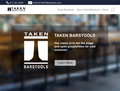 TakenBarstools: Website