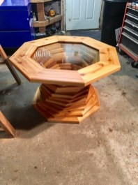 octagon table design with glass top