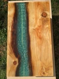ecopxy pour with light blue details