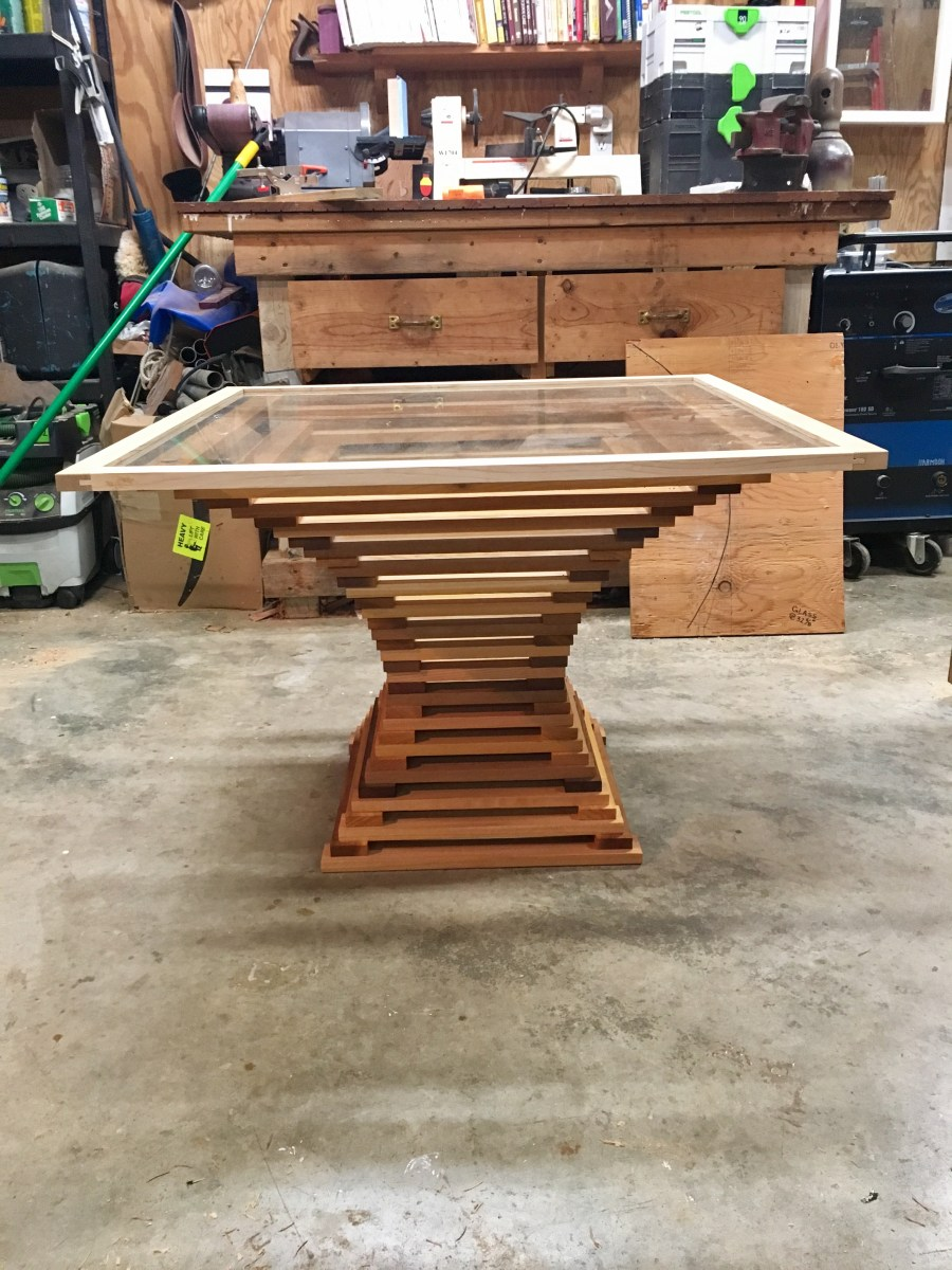 custom designed handmade wood table