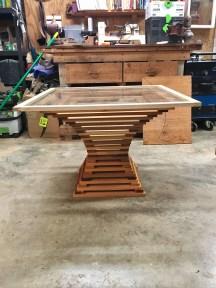 custom designed handmade wood table