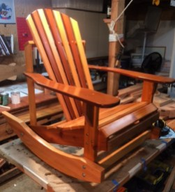 rocking adirondack chair for custom build house on bainbridge island