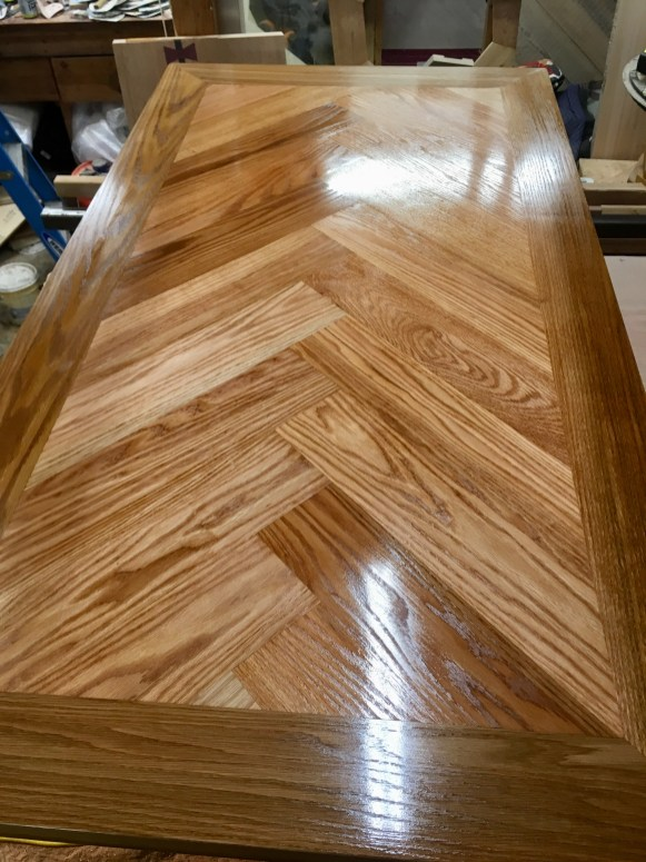 the final coat of polish for natural wood table