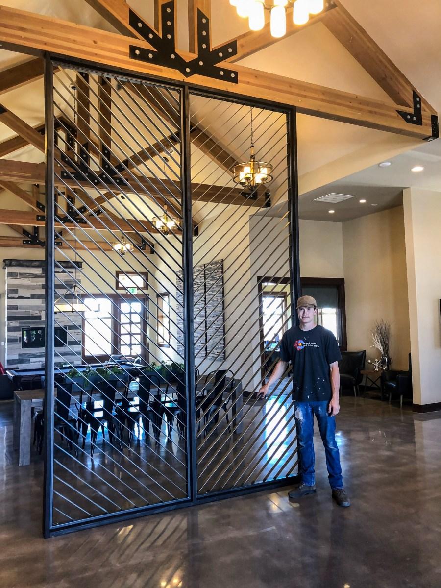 daniel harmon custom metalworking for Puget Sound partners office