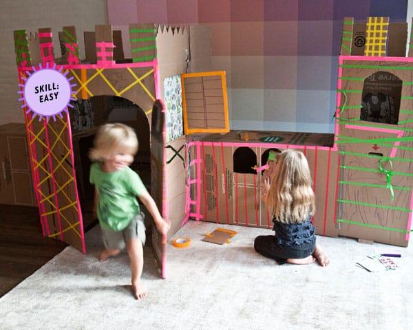 cardboard castle fun
