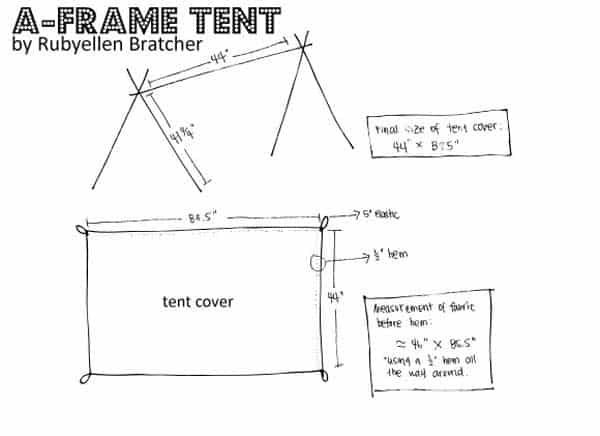 a frame tent plans building the frame