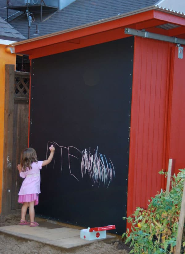 Turn Your Shed Into A Creative Space With Chalkboard Paint