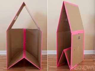 Diy Fold Away Cardboard Box Playhouse