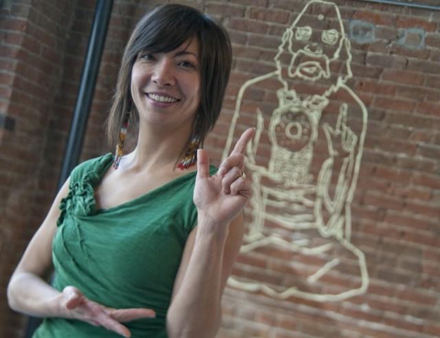 Angel Moran in the Guru pose