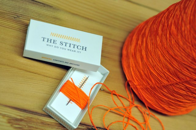 The Stitch box and signature orange thread