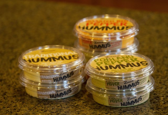 Zacca Hummus packaging and flavors