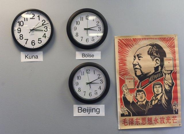 WhiteCloud office clocks