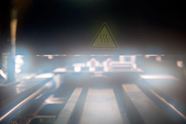 Inside an active 3D printer