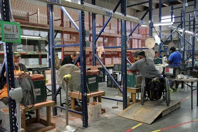 Usful Glassworks production line