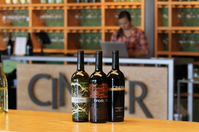 Cinder Wine bottles