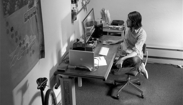 Retroscope Media founder Zach Voss at desk